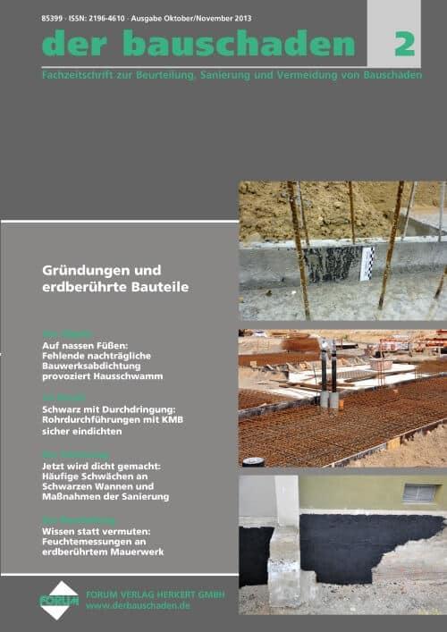 Ausgabe Okt/Nov 2013<br>Gründungen und erdberührte Bauteile