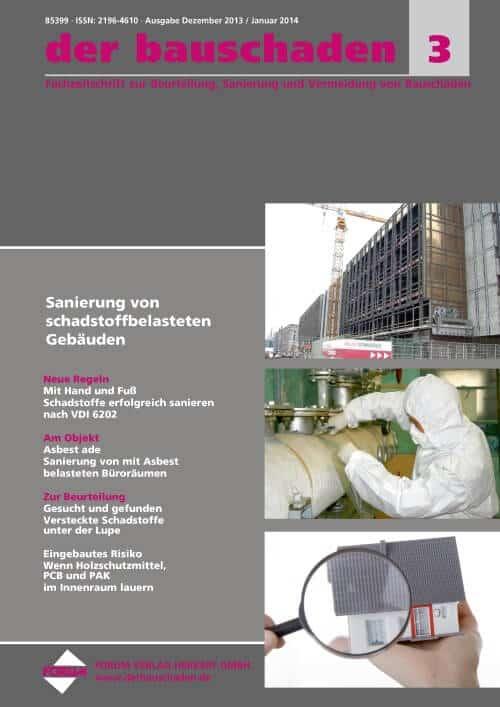 Ausgabe Dez 2013/Jan 2014<br>Sanierung von schadstoffbelasteten Gebäuden