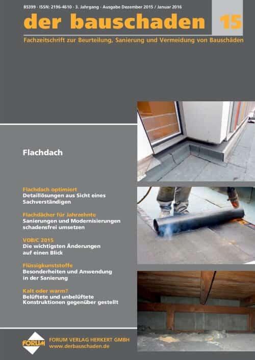 Ausgabe Dez 2015/Jan 2016<br>Flachdach