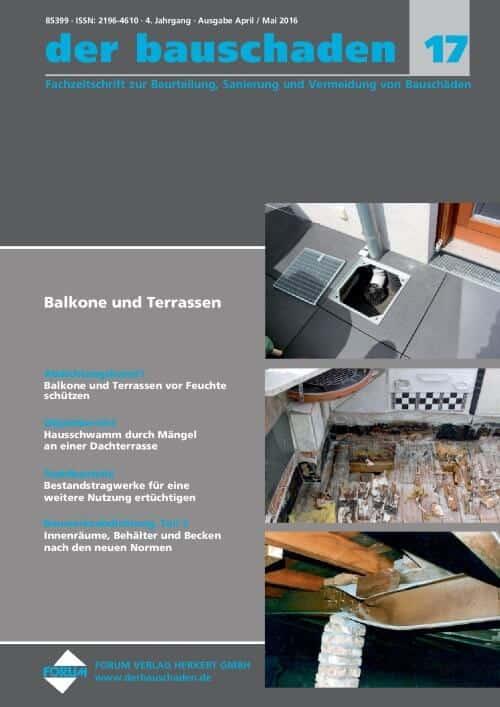 Ausgabe Apr/Mai 2016<br>Balkone und Terrassen