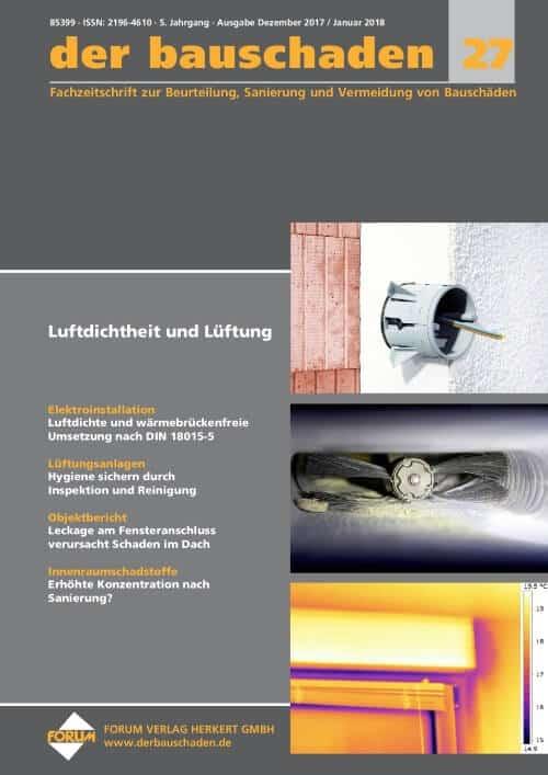 Ausgabe Dez 2017/Jan 2018<br>Luftdichtheit und Lüftung