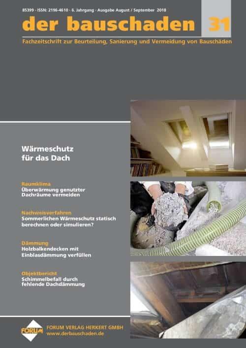 Ausgabe Aug/Sep 2018<br>Wärmeschutz für das Dach