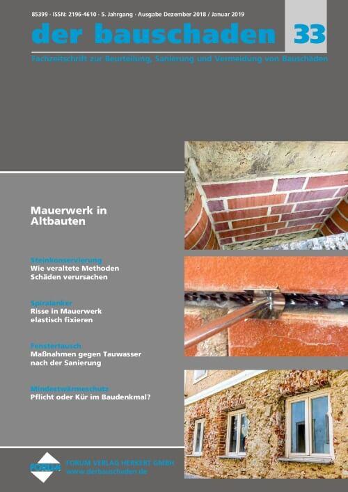 Ausgabe Dez 2018/Jan 2019<br>Mauerwerk in Altbauten