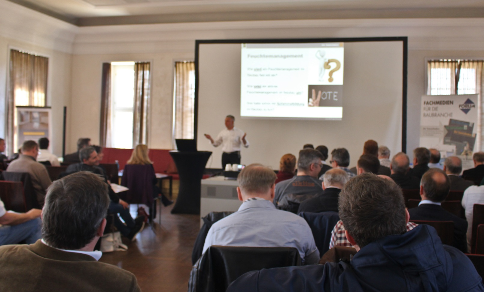 bauschaden-Fachtagung 2019 thematisierte in Würzburg das Feuchtemanagement von Neubauten