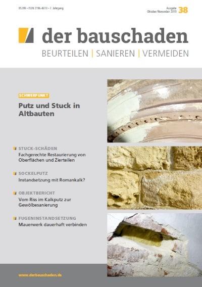 Ausgabe Okt/Nov 2019<br>Putz und Stuck in Altbauten